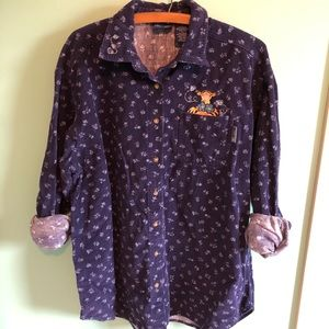 VTG 90s Corduroy Tigger Embroidered Button Down